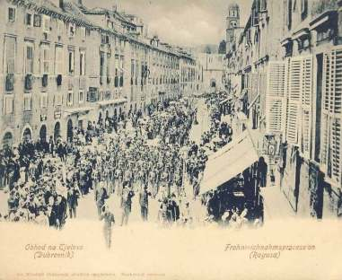 Stradun procession 1904